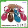 Sandalia ocasional de las muchachas de las mujeres del modelo nuevo con la decoración (RW28053B)