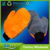 Doppelter starker korallenroter Samt-Bären-Daumen-Reinigungs-Auto-Wäsche-Handschuh