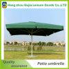Square 4 costillas impermeable jardín sombrilla portátiles mercado paraguas
