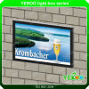 アルミニウム材料および防水屋外の壁に取り付けられた広告のライトボックス