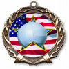 自由の印刷された昇進のギフトのバレーボールメダルアイコンは軍隊を習得する