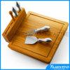 Hackender Vorstand-Käse-Ausschnitt-Vorstand-Bambusset
