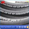 Tuyau à haute pression de pétrole de tuyau hydraulique de 4 fils