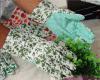 Luvas protetoras de jardinagem do estilo bonito das crianças das mulheres da impressão da flor