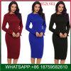 Elegante Büro-Großhandelsdame Fashion Medium Dress für Winter
