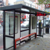 Abri actionné solaire populaire d'arrêt de bus en métal avec le banc de attente