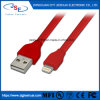 高速証明されたApple 8Pin平らな電光同期信号料金USBケーブルのコードIos