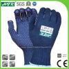 Бамбуковые волокна трикотажные антибактериальные дезодоранты безопасности рабочие перчатки с ПВХ точек