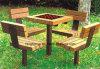 公園のベンチ、ピクニック用のテーブル、鋳鉄のフィートの木のベンチ、公園の家具FTPb037