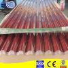 Folha de metal corrugado galvanizado vermelho para tejadilho