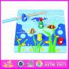Giocattolo di legno del gioco di pesca dei 2015 capretti educativi, giocattolo magnetico di pesca di migliore puzzle di legno di vendita, giocattolo magnetico di legno Wj276038 di pesca
