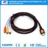 3 RCAへの高品質HDMI Converter Male Female Video Audio AV Cable