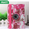 iPad Mini 1을%s Flower 고전적인 Tablet Case PU Leather Stand Flip Book 360 Rotating Smart Cover 2 3