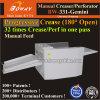 Arte progresivo patentada de papel recubierto de pliegues perforantes de Alimentación Manual y Creaser