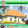 Erschwingliches vorfabriziertes modulares Stahlkonstruktion-Gebäude/bewegliches Landhaus/Fertighaus