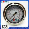 フランジが付いている高圧衝撃抵抗のオイルの満たされた圧力計