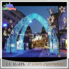 Luzes azuis do motivo do arco do diodo emissor de luz da decoração da rua com estrela