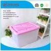 Capacidade de Serviço Pesado Hotsale colorida caixa de armazenamento de plástico PP bandejas de plástico com pegas e Rodas para armazenamento de pacote para o lar (15 l a 150 l)