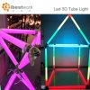 Lumière magique de tube de la forme DEL du degré DMX de la lumière 360 de tube de Digitals DEL