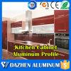 Perfil de alumínio de alumínio da extrusão do gabinete do frame de porta da cozinha com o pó anodizado revestido