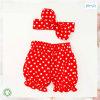 赤い赤ん坊の摩耗の点印刷の赤ん坊のレギングのヘッドバンドセット