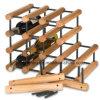 Estante del vino de madera de pino de la asamblea con la botella de acero galvanizada del asimiento 8-40