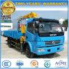 Dongfeng 6은 XCMG 기중기로 거치된 트럭 4 톤 기중기 선회한다