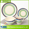 Ensemble à dîner en céramique en grès découpé à la couleur fraîche (TM0510)
