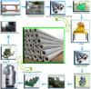 Máquina de fabricação de pólo elétrico com concreto padrão e molde de pólo elétrico em concreto