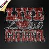 Sale WholesaleのためのRhinestone Lettersの生きているLove Cheer Iron