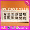 2016 frames de madeira por atacado da foto de família, frame de madeira da foto de família de 12 furos, frame de madeira encantador W09A043 da foto de família