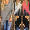 Femmes Irlemand Tassel Knitted Cardigan Loose Sweater