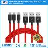 iPhone 부속품을%s 다채로운 2.1A USB 데이터 비용을 부과 케이블