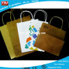Venta Directa de Fábrica caliente reutilizables personalizadas de papel recubierto negro Bolsa de compras, Impreso Linda bolsa de papel para promoción