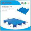 Pallet 1200*1000*140mm van de Grootte van de EU HDPE vlak Grote Negen van het Plastic Voeten Dienblad Statische 4t voor de Producten van het Pakhuis