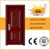 中国の外部の金属のドアの機密保護の鋼鉄鉄のドア(SC-S180)