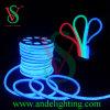 Lumières au néon imperméables à l'eau de corde de câble du bleu LED, lumière de bande au néon