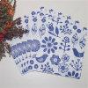 La festa nuziale favorisce a decorazione il fiore blu tovaglioli di carta