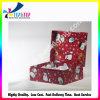 Цветастая бумажная коробка двери коробки подарка упаковывая открытая