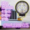 Diodo emissor de luz redondo Auxiliary Driving Lights 27W fora do diodo emissor de luz Lamp do IP 68 do diodo emissor de luz Driving Lights 27W Work Light Waterproof de Road