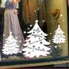 Autoadesivo della parete di Buon Natale, autoadesivo della finestra dell'albero di Natale, decalcomanie smontabili della parete del vinile