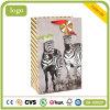 Bolsas de papel revestidas del regalo del arte rayado de los niños de la cebra