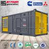 Aprire il generatore diesel resistente all'intemperie insonorizzato di Cummins Perkins 1250kVA 1000kw del contenitore 1 Mw
