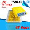Инкубаторы 2015 яичка триперсток CE маркированные автоматические миниые (YZ8-48)