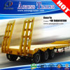 Price 싼 60ton Exposed Tires Low Flat 갑판 Trailer