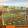 El emplazamiento de la obra fácil instala los paneles temporales cubiertos polvo de la cerca