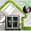 A inclinação mais populares e gire a janela de madeira para cozinha/Quarto/sala de jantar, Alumínio folheados ou chapeados de madeira para a janela Casement Vilia