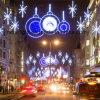 Réverbères de Noël de décoration d'éclairage de vacances de DEL