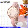 Geschäft kundenspezifische Uhr-Leder-Uhr-Legierungs-Uhr (Wy-108B)