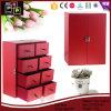 Contenitore di monili di cuoio elegante rosso di alta qualità bello (6370)
